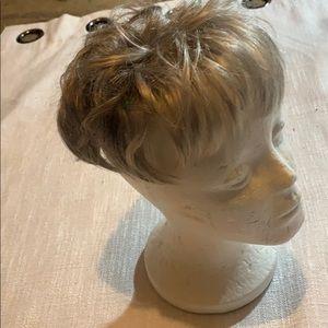 Human hair topper.